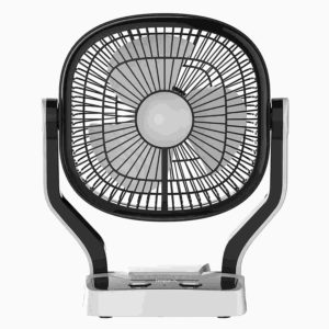 Impex Breeze-D1 Solar Rechargeable Fan with LED Light Dual Speed Mode 3 Blade Table Fan