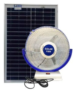 Solar Fan with solar panel works directly on solar panel. Free electricity from sun Belifal Brand