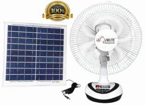 i-Solarlite® Bena Solar Table Fan 12 inch, Solar Fan